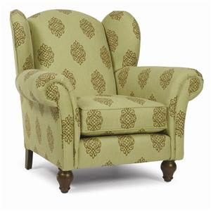 693 Wing Chair with Exposed Wood Legs by Alan White