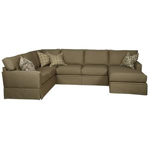 Alan White 850  Contemporary High End Sectional Sofa with Chaise