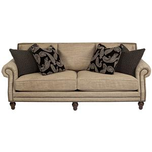 926  Traditional High End Sofa with Nail Head Trim by Alan White