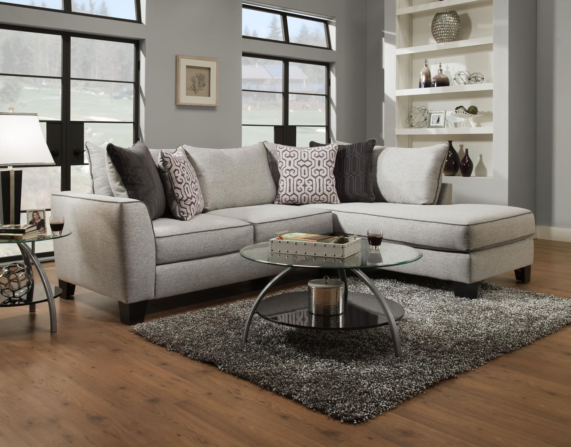 2 pc. Sofa with Right Arm Facing Chaise