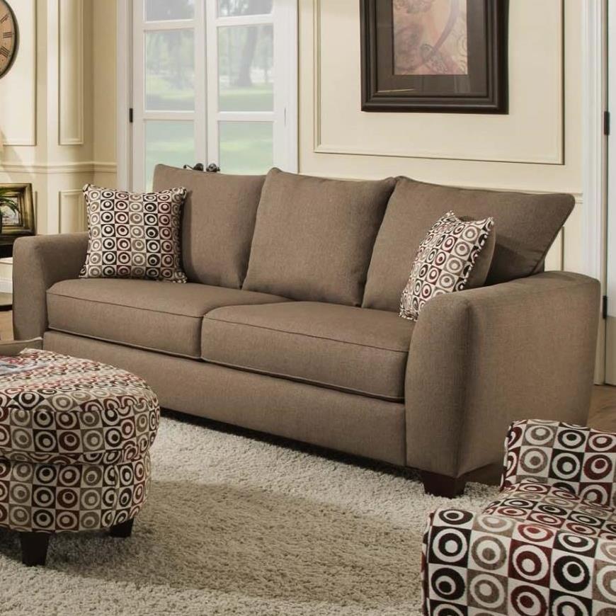 Albany 0416 Sofa - Item Number: 0416-00-GENS-Heritage Nutmeg