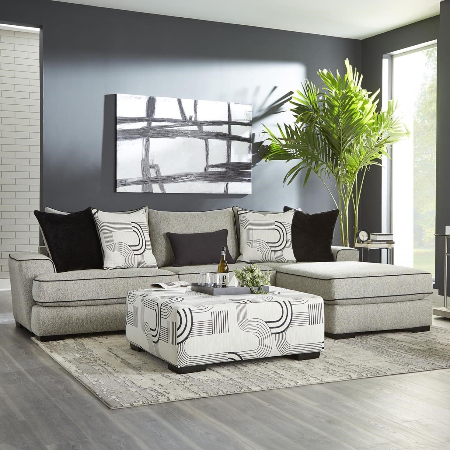 0688 Sectional Sofa by Albany at A1 Furniture & Mattress