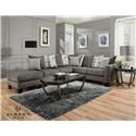 Albany 0759 Three Piece Sectional - Item Number: 07593pc