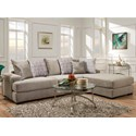 Albany 883 2 Piece Sectional Sofa - Item Number: 0883-2PC-GENS-23092