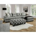 Albany 883 2 Piece Sectional Sofa - Item Number: 0883-2PC-GENS-23598