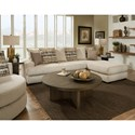 Albany 883 2 Piece Sectional Sofa - Item Number: 0883-2PC-GENS-Putty