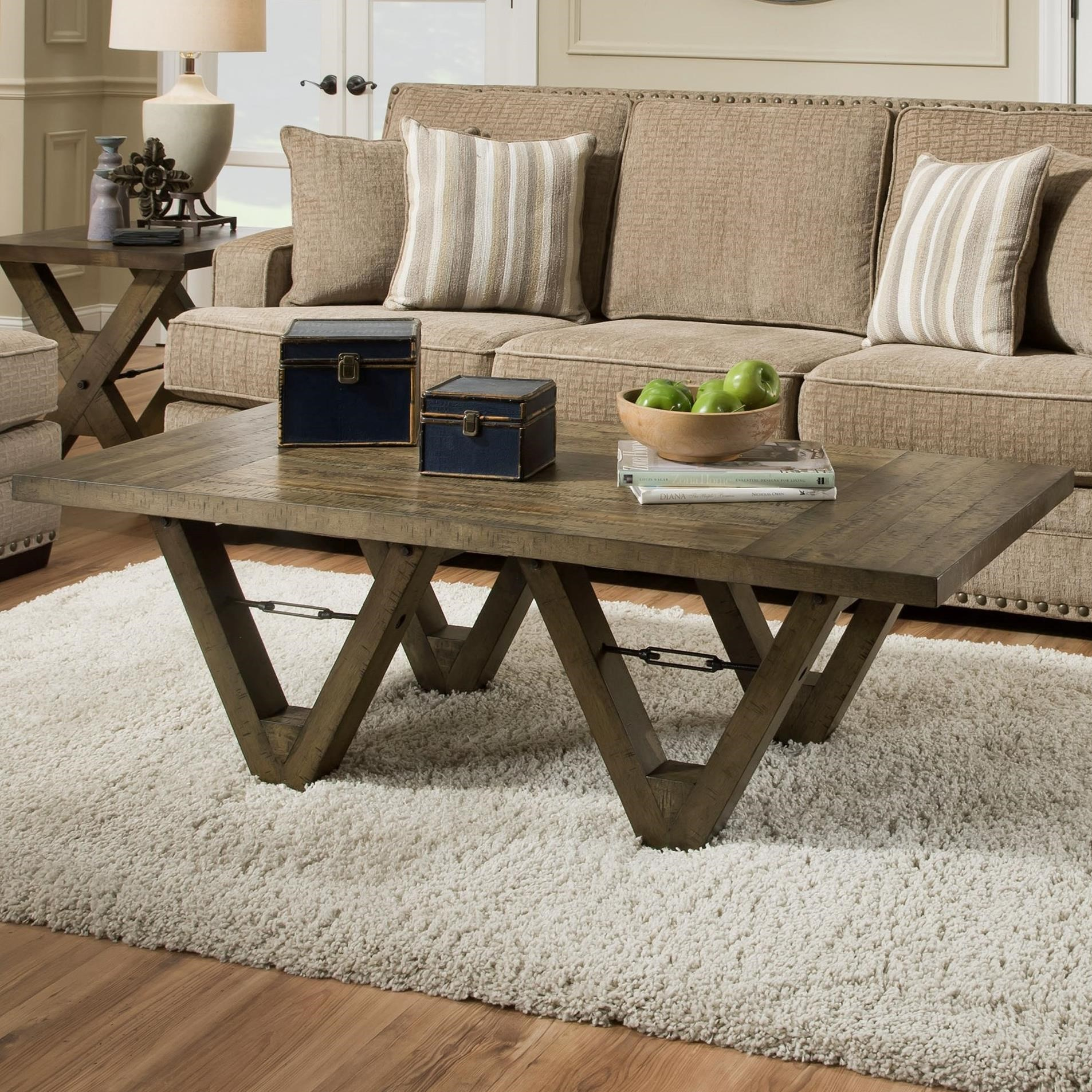 Albany 128 distressed oak coffee table with metal accents albany 128 distressed oak coffee table item number 0128 cof disoak geotapseo Image collections