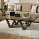Albany 128 Distressed Oak Coffee Table - Item Number: 0128-COF-DISOAK
