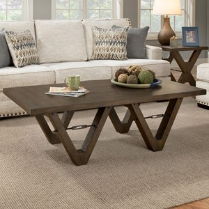 Albany 128 Distressed Walnut Coffee Table