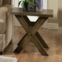 Albany 128 Distressed Oak End Table - Item Number: 0128-END-DISOAK