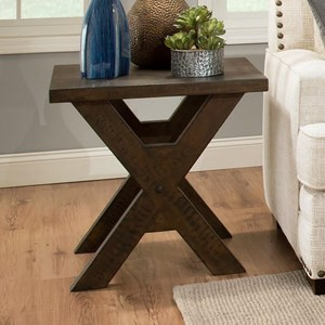 Albany 128 Distressed Walnut End Table