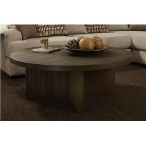Albany Distressed Walnut Round Cocktail Table
