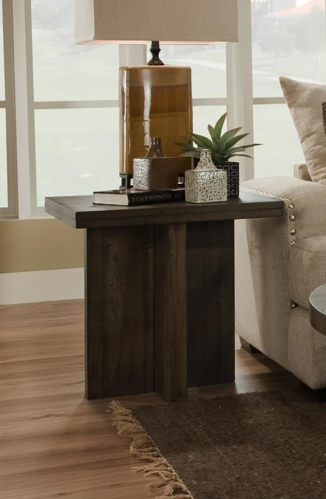 Albany Distressed Walnut Square End Table - Item Number: 130-END-DISWAL