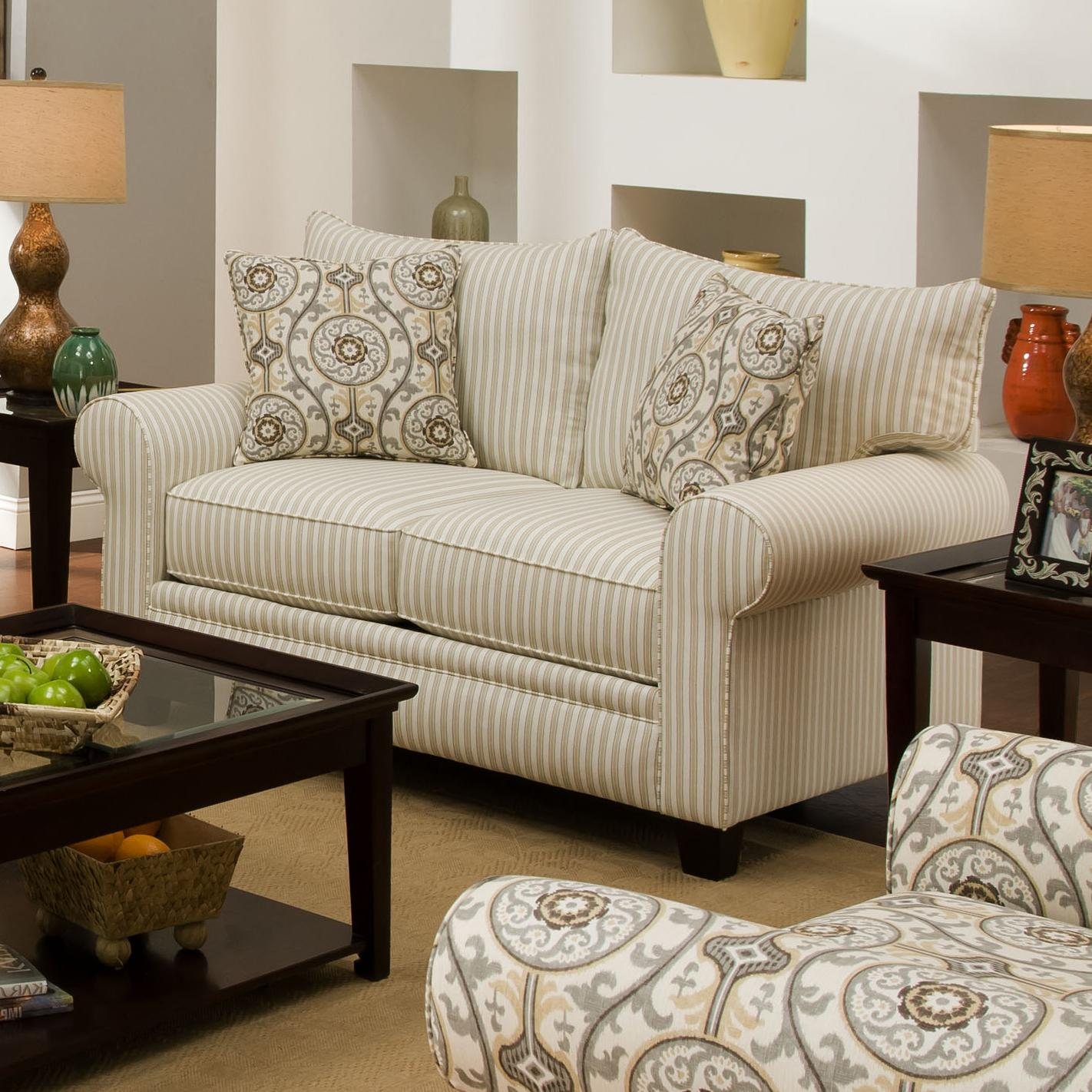 Albany 216 Transitional Loveseat - Item Number: 216-10-BoulevardGrey