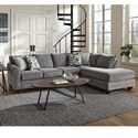 Albany 2214 2 PC Sectional Sleeper Sofa - Item Number: 2214-18-GENS+61-17692