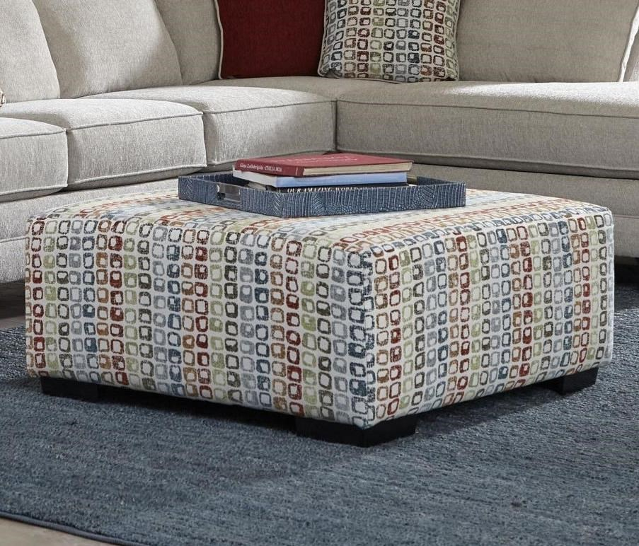 2214 Cocktail Ottoman by Albany at A1 Furniture & Mattress