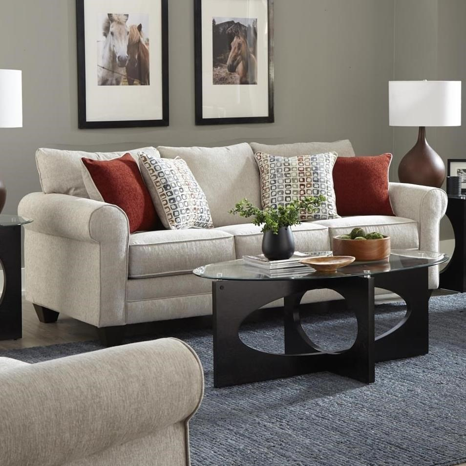 2214 Queen Sleeper Sofa by Albany at A1 Furniture & Mattress
