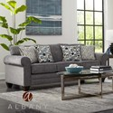 Albany 2214 Queen Sleeper Sofa - Item Number: 2214-40-GENS-17692