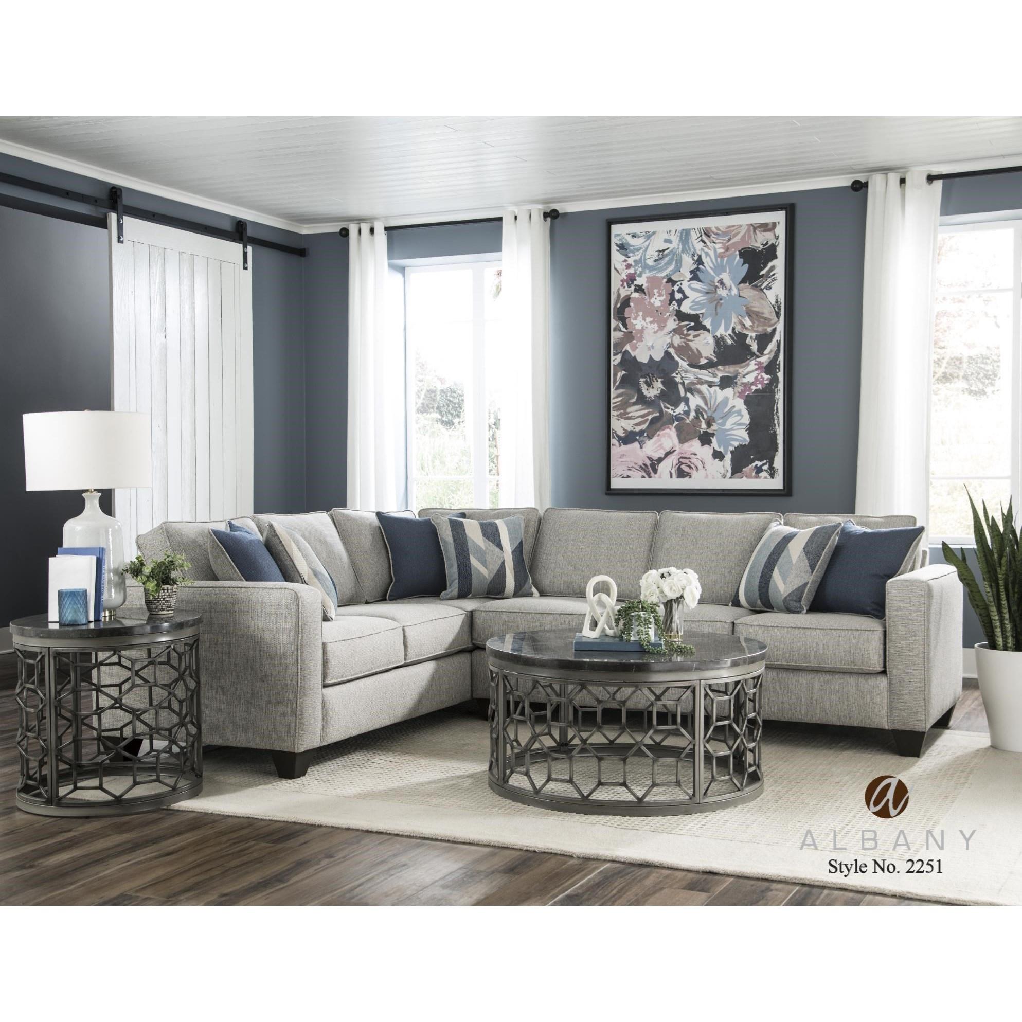 2 PC Sectional Sofa Sleeper