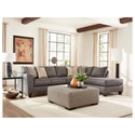 Albany 2256 Sectional Sleeper with Chaise - Item Number: 2256-18+61-GENS-12548