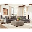 Albany 2256 Two Piece Sleeper Sectional - Item Number: 2256GraphiteSect