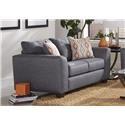 Albany 2256 Upholstered Loveseat - Item Number: 2256GraphLvst
