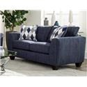 Albany 2256Denim Upholstered Loveseat - Item Number: 2256denimlove