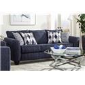 Albany 2256Denim Queen Sleeper Sofa - Item Number: 2256Denimslpr