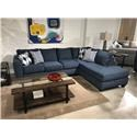 Albany 2256Denim Two Piece Sleeper Sectional - Item Number: 2256Denimslprsect