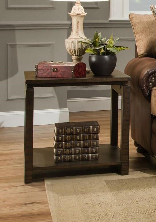 Albany Freud Walnut End Table - Item Number: 237-END-WALNUT
