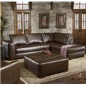 Albany 275 Sectional Sofa with Chaise - Item Number: 275-61+67
