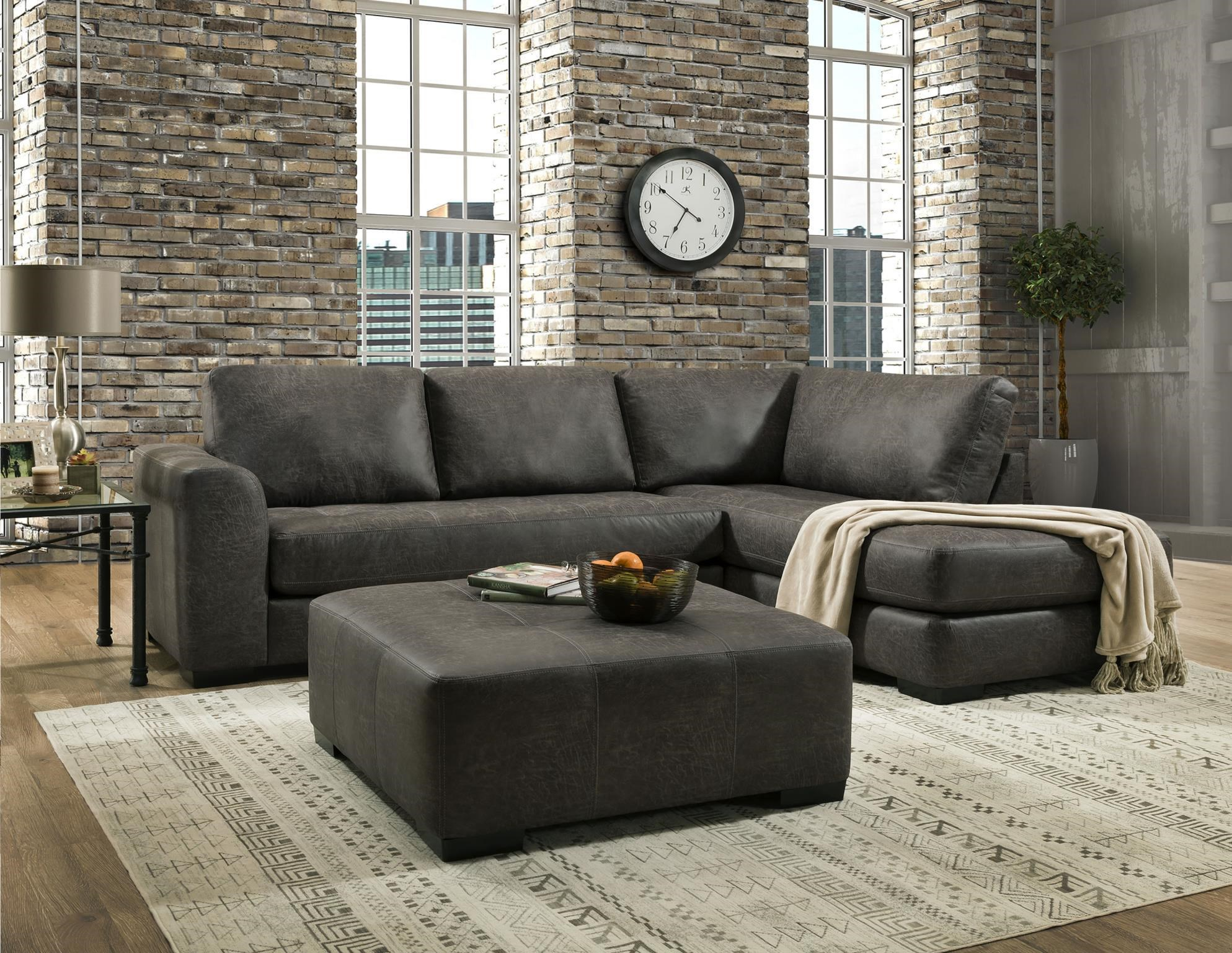 Two Piece Chaise Sectional