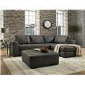 Albany 275 Two Piece Chaise Sectional - Item Number: 276Smoke