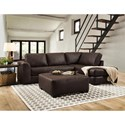 Albany 276 Chaise Sectional Sofa - Item Number: 0276-2PC-GENS-24818