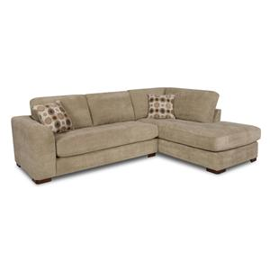 Albany 277 sectional sofa with right side chaise for Albany sahara sectional sofa chaise