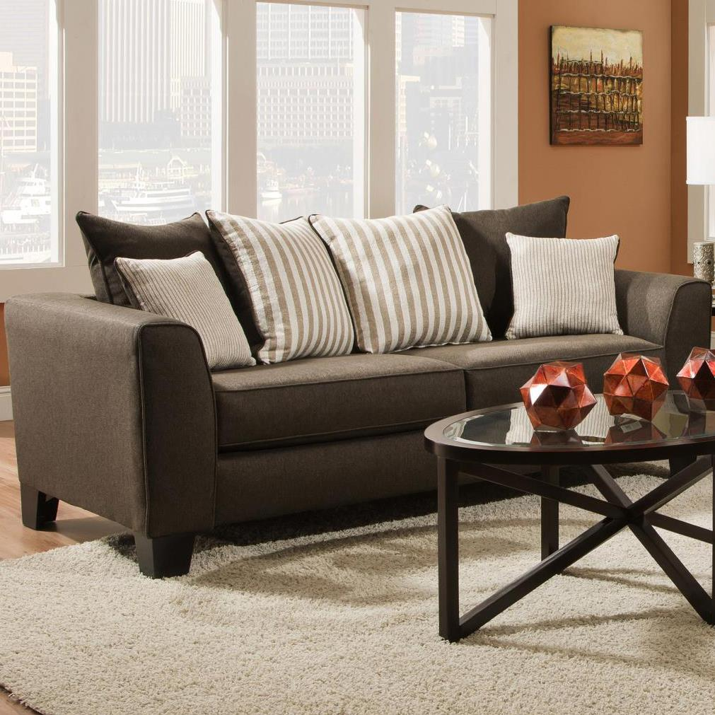Albany 356 Collection Contemporary Sofa - Item Number: 356-00-Base Chocolate