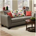 Albany 356 Collection Contemporary Sofa - Item Number: 356-00-Base Dove