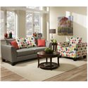 Albany 356 Collection Contemporary Sofa with Track Arms
