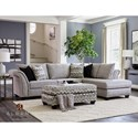 Albany 396 Sectional with Chaise - Item Number: 0396-2PC-22092