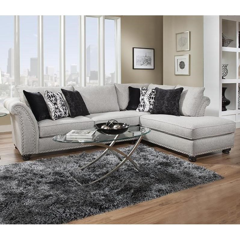 396 Sectional with Chaise by Albany at A1 Furniture & Mattress