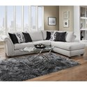 Albany 396 Sectional with Chaise - Item Number: 0396-61-GENS-19496+67-GENS-19496