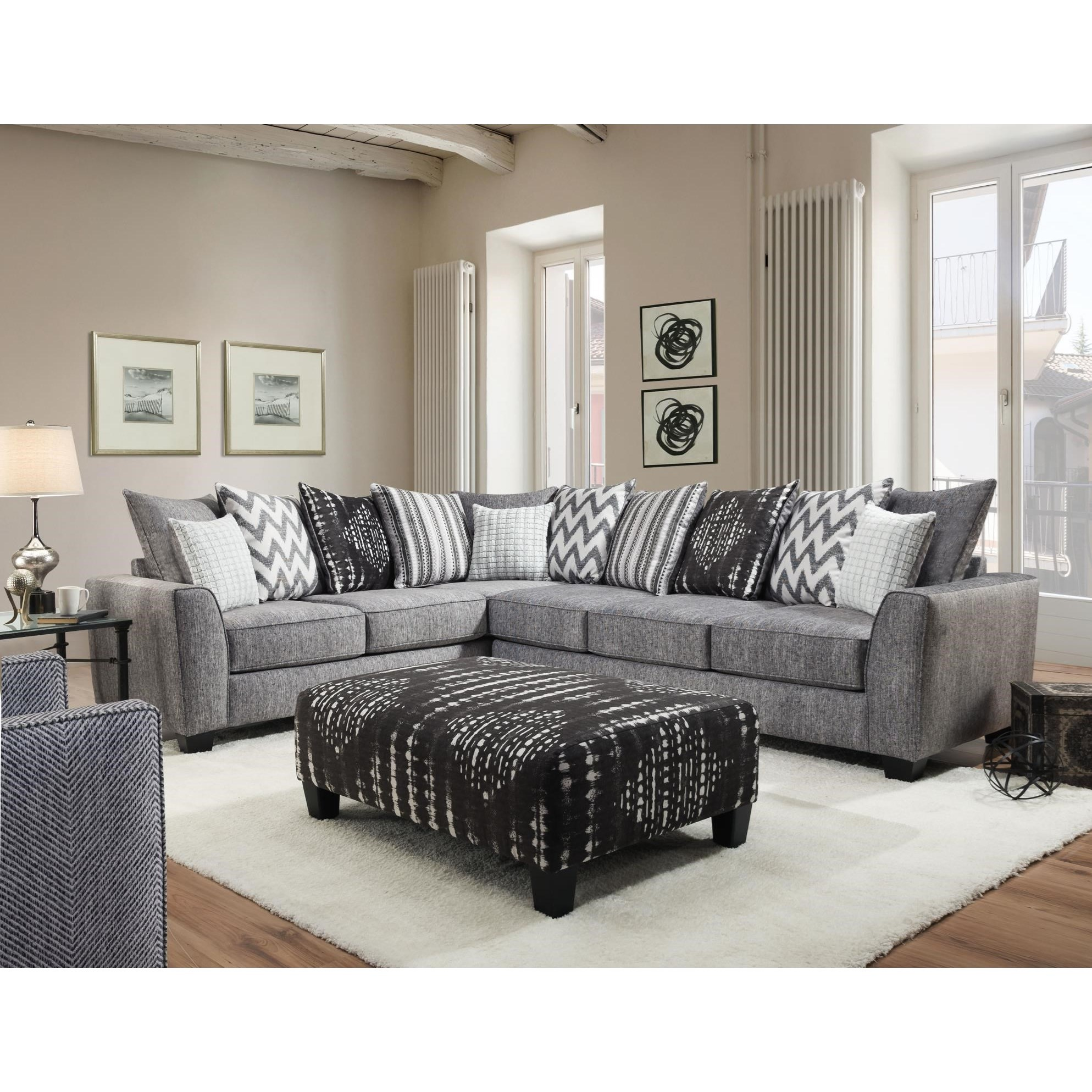 484 2 PC Sectional Sofa Sleeper by Albany at A1 Furniture & Mattress