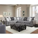 Albany 484 2 PC Sectional Sofa Sleeper - Item Number: 484-63-GENS+46-23598
