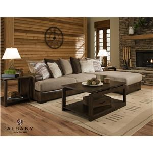 Albany 689Goldrush Two piece sectional
