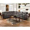 Albany 782 2 Pc Sectional Sofa - Item Number: 0782-63+65-39992