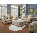 Albany 8340 Casual Loveseat with Large Flare Tapered Arms