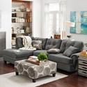 Albany 8632 Sectional Sofa - Item Number: 8632-60+65-Smoke