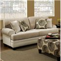 Albany 8642 Transitional Stationary Sofa - Item Number: 8642-00-GENS-35282