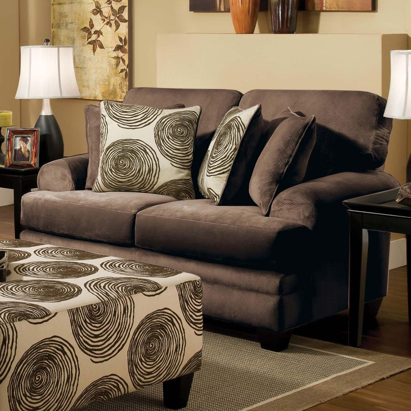 8642 Transitional Loveseat by Albany at A1 Furniture & Mattress