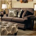 Albany 8642 Transitional Loveseat - Item Number: 8642-10-GENS-35218-Chocolate